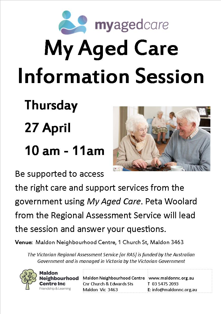 My Aged Care info session
