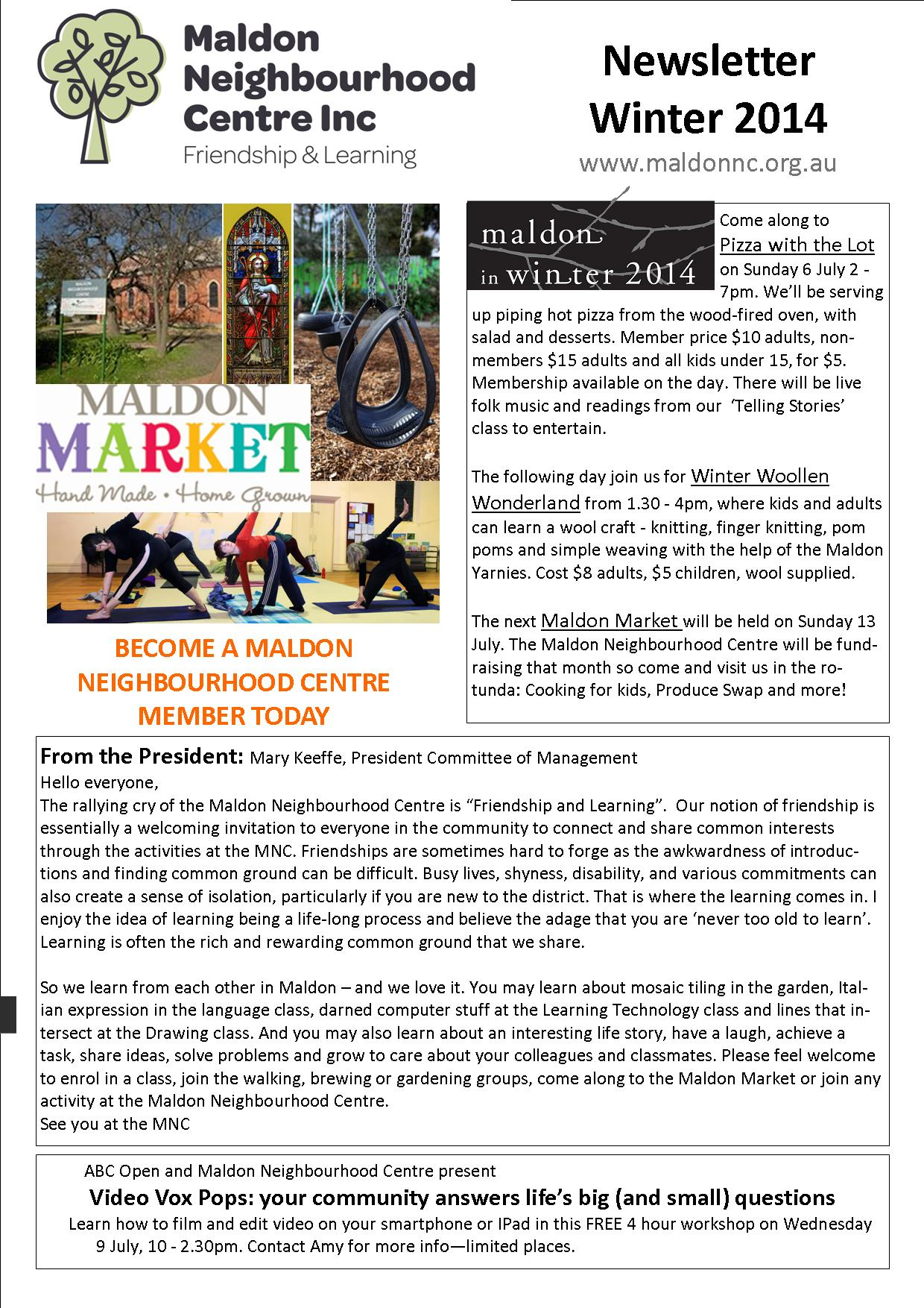 Newsletter Winter 2014 2
