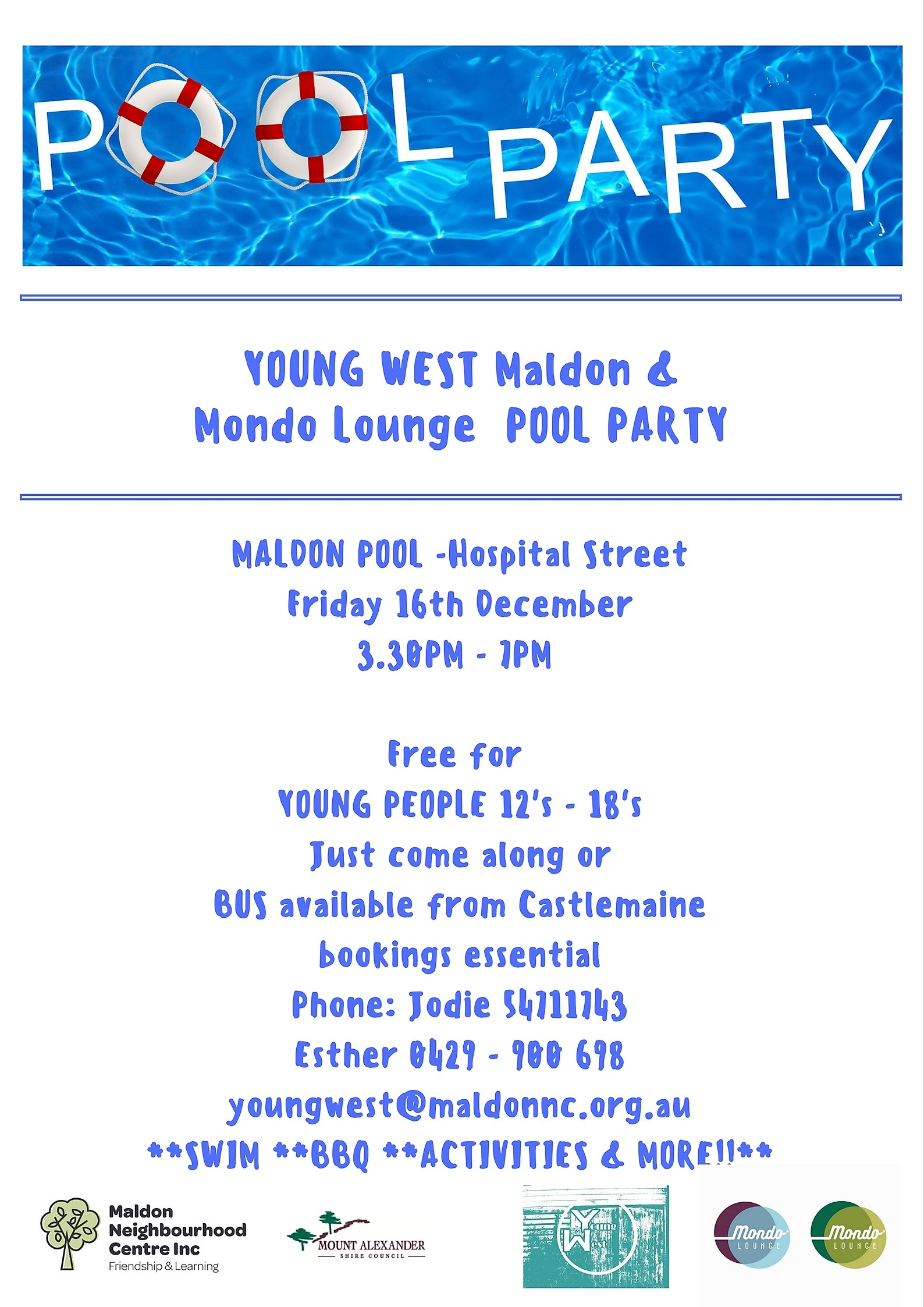Young West Pool Party Poster 2016 final